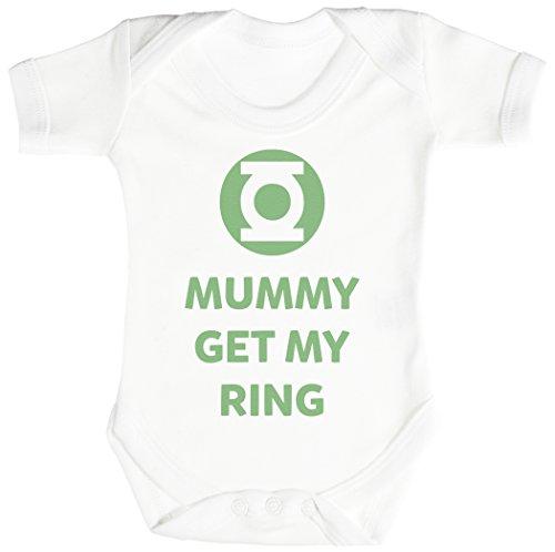 Baby Buddha Mummy Get My Ring Body bébé - Gilet bébé - Body bébé Ensemble-Cadeau - Naissance Blanc