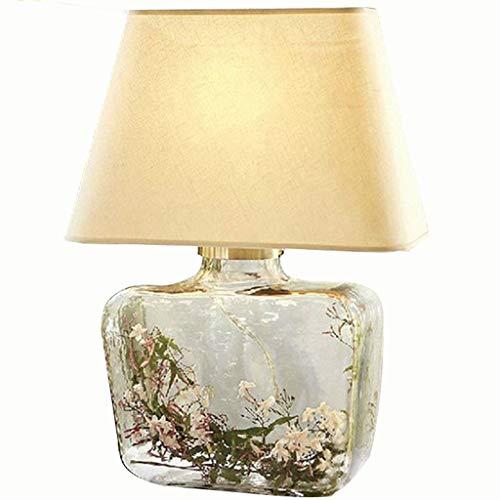 Glazen tafellamp bureau verlichting -American Minimalist Moderne woonkamer slaapkamer hotel engineering lamp (H60 lampenkap D42CM)