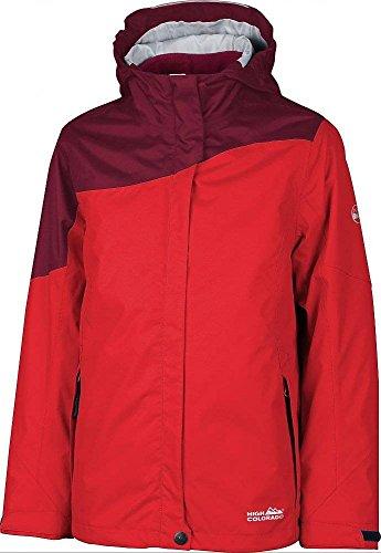 High Colorado Mädchen 2in1 Jacke Doppeljacke Outdoorjacke CALGARY GIRL rot, Größe:128