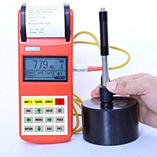 GAO-PHT-105 Portable Hardness Tester with Largest 3 Inch Screen, HL-HV-HB-HRC-HRB-HRA-HS Hardness Conversion, Memory 600 Groups, Measuring Range 170~960 HLD, USB Interface 1.1