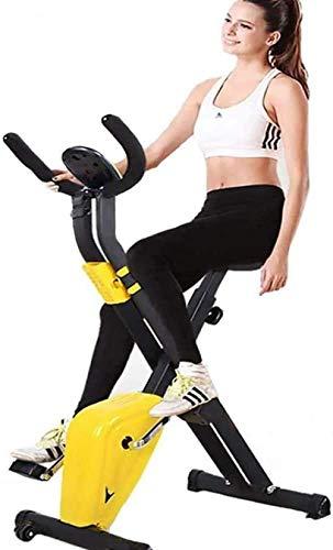 Bicicleta estática plegable con soporte para teléfono y distancia de frecuencia cardíaca, monitor de calorías, soporte 330LBS