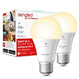 Sengled Ampoule WiFi E27, Ampoules Connectées Alexa Google Assistant Smart Bulb, LED E27 Intelligentes, WiFi Smart LED Bulb, Contrôle à Distance, Dimmable, Blanc Chaud 2700k, 60W 806LM, Pack de 2