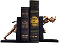 GAXQFEI ブックエンドはアメリカのクリエイティブオフィスブックのファイル装飾研究スポーツキャラクターブックエンドブックシェルフ装飾書籍ホルダーアートブックエンド