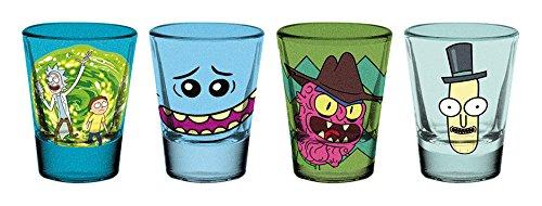 GB Eye Rick und Morty Premium Schnapsgläser, Kristall, verschiedenen, 13x 11x 2cm