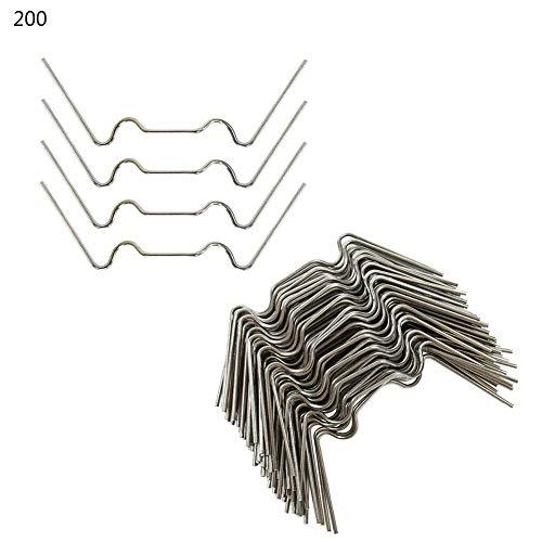 100/200 stuks kas klemmen - broeikas klemmen roestvrij staal 2 mm dikte - Extra sterke roestvrije klemmen voor broeikas - Ideaal klemmen kas voor broeikas glas - kassen accessoires 200 / set zilver
