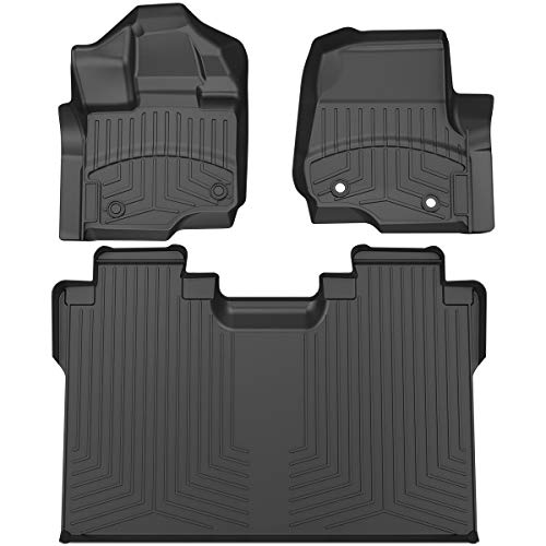 Custom Fit 2 Row Liner Set for 2017-2019 Honda CRV 1st /& 2nd Row Black All Weather Protection OsoTorero TPE Floor Mats for 17-19 Honda CR-V