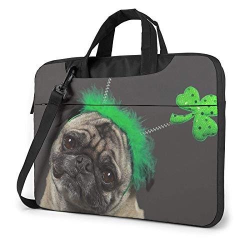Cute Pug Dog Laptop Bag Messenger Bag Briefcase Satchel Shoulder Crossbody Sling Working Bag 14 Inch
