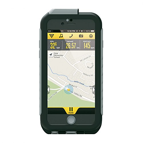 Topeak - Custodia per iPhone 6/6S, con supporto, colore: Nero/Grigio