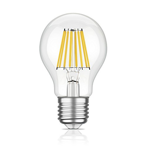 E27 LED-lamp filament A60 6W = 60W warmwit 800lm A++ voor binnen en buiten