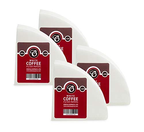 EDESIA ESPRESS - Kaffee-Filtertüten - Weiß - V02-400 Stück - kompatibel mit Hario V60 02