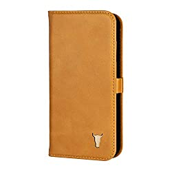 PREMIUM LEATHER - The TORRO premium leather stand case for iPhone XS/X is handcrafted from genuine tan leather sourced from the USA, a vegetable-tanned cowhide leather. Each case is completely unique thanks to this tanning process and, over time, wil...