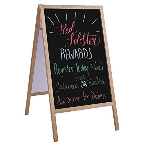 "Chalkboard Sign, Chalkboard Easel, Extra Large 40""×22"", Chalkboard Signs with Stand, Sandwich Chalkboard, Sidewalk Sign, A Frame Chalkboard Sign, Standing Chalkboard Sign, Chalk Board Sign"