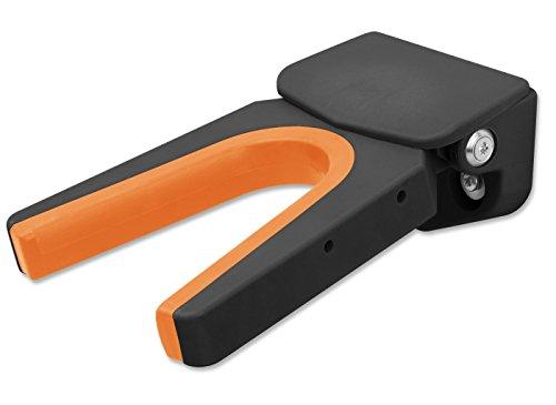 Bootcatcher BC-010103 - der moderne Stiefelknecht zum schonenden und einfachen Ausziehen von Stiefel und hohen Schuhen - Wandmontage, Schwarz-Orange