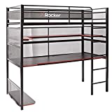 X Rocker, 2110401, Gaming Bunk Bed, 77.64 x 41.34 x 71.85, Black/Red