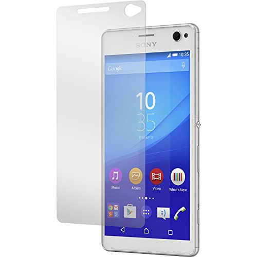 PhoneNatic 1 x Glas-Folie klar kompatibel mit Sony Xperia C4 / Dual - Panzerglas für Xperia C4 / Dual