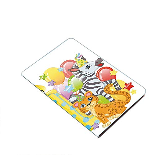 Case for iPad Air 10.5' 2019 (3rd Generation) & iPad Pro 10.5 2017,Kids Party with Baby Safari Animals Zebra Lion Balloons Backdrop PU Leather Business Folio Cover,with Stand,Pocket and Auto Wake/Slee