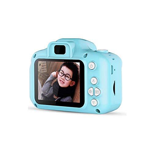 LYQZ Tragbare Mini-Kamera-pädagogisches Spielzeug-2-Zoll-HD-Bildschirm 800W Pixel USB aufladbare Foto Toy Kinder (Color : Blue, Size : 16G)