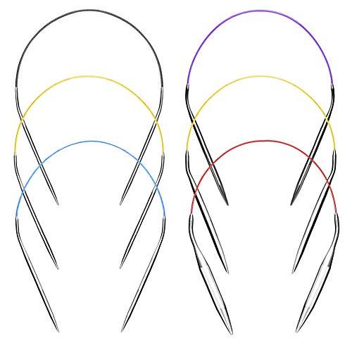 Seawhisper Rundstricknadel für Socken Metall 40cm Stricknadeln Lang Rundstricknadeln Set