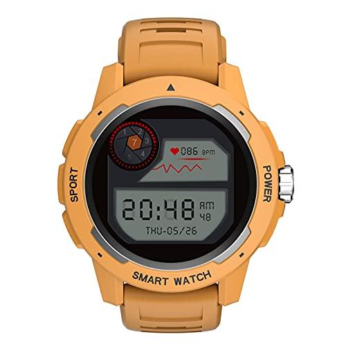 BNMY Smartwatch Orologio Fitness Donna Uomo Smart Watch Android iOS Contapassi Cardiofrequenzimetro da Polso Orologio Sportivo Conta Calorie Activity Tracker,Giallo