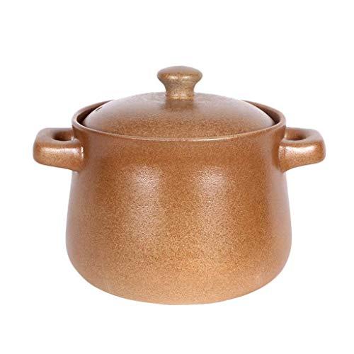 ZHANGJINYISHOP2016 Olla Acero Abrir Fuego la cazuela del hogar no vidriado de la cerámica de Alta Temperatura de la Resistencia de la manija Sopa de Olla 3.2L / 4.5L / 5.0L / 6.2L Olla (Color : 4.5L)