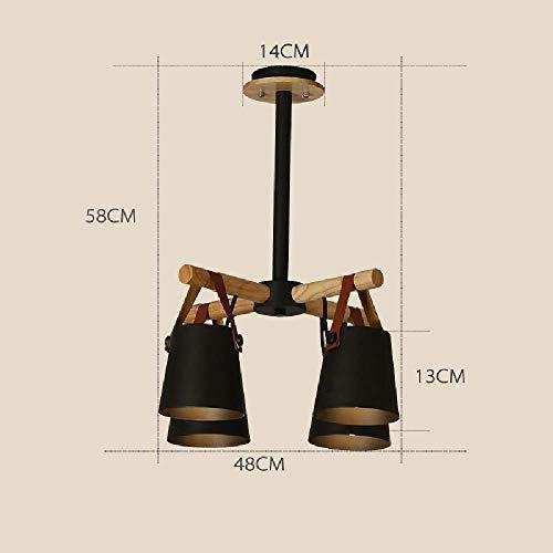 Hanglamp, nordic creativity houten hanglamp, voor slaapkamer woonkamer decoratie plafond licht, wit mat afwerking hanglamp