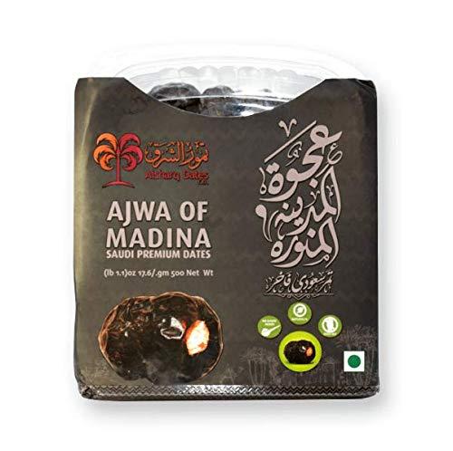 Ajwa of Medina Datteln - Ajwa Datteln - 500 Gramm - Premium Qualität - Vakuum verpackt - Ohne Konservierungsmittel und Zusatzstoffe - 100% natürlich