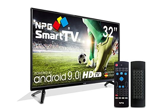 TV LED 32  HD NPG Smart TV Android 9.0 + Smart Control | WiFi DVB-T2 H.265 PVR Quad Core