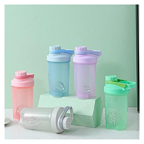 JJYGWBTS Botella de agua de 400/500 ml para bebidas deportivas, taza, coctelera, taza de agua, bebida de viaje portátil (color: B naranja)