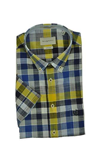 Bugatti - Herren Kurzarm Hemd mit Button Down Kragen (Art. Nr.: 9450-58332), Größe:S, Farbe:Gelb (620)