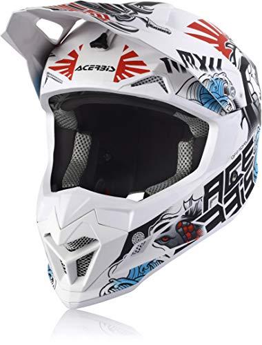 Acerbis Profile 4 Casco Motocross Bianco/Blu/Rosso M (57/58)