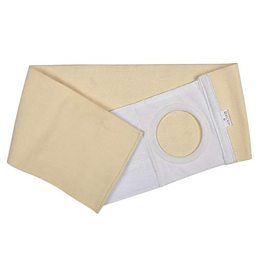 WE&ZHE Ostomy Hernia Support Belt,Abdominal Binder Brace Abdomen Band Stoma Support for Colostomy Patients to Prevent Parastomal Hernia Stoma Opening,B,S