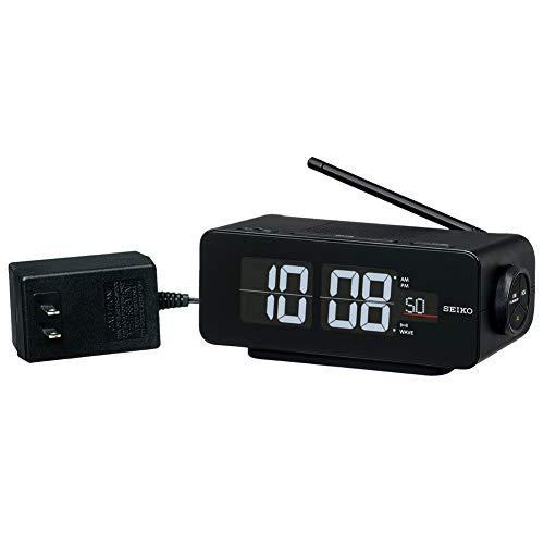 セイコークロック 置き時計 黒 本体サイズ:7.2×16.8×9.6cm 電波 デジタル 交流式 カラー液晶 シリーズC3 FLIP DL213K