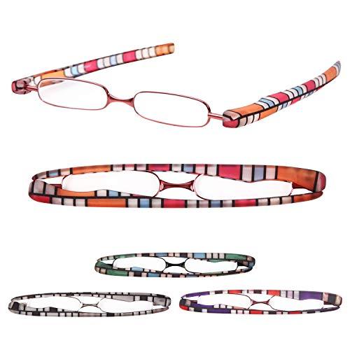 老眼鏡 携帯用 プレミアムカラー 超軽量 おしゃれなリーディンググラス[Pod Reader]ユニセックス 眼鏡ケース不要[PrePiar] (+1.0, ピンク)
