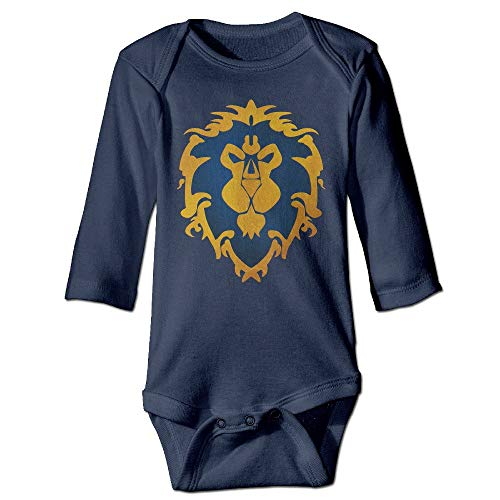 Baby Onesies League Logo – World of Warcraft Baby One Piece Long Sleeve 12M