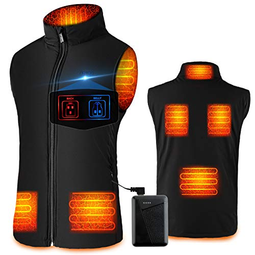 Heated Vest for Men Women - Rechargeable Heated Jacket, Heated Vest with Battery Pack (L)
