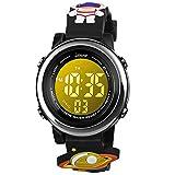 BIGMEDA Reloj Digital para Niños Niña, Luz Intermitente LED de 7 Colores Reloj de Pulsera Niña Multifunción, para Niños de 3 a 12 años (Aviación)