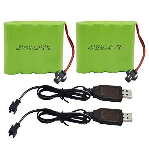 Blomiky 2 Pack 4.8V 2200mAh Battery