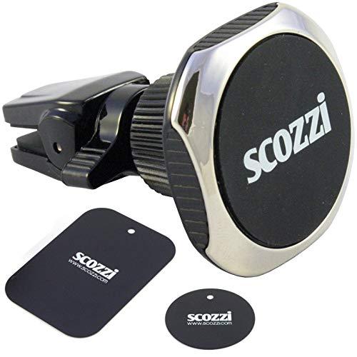 scozzi KFZ Magnet Handy Halterung Lüftung Auto Smartphone Halter magnetisch, auch für r&e Lüftungslamellen. Z.B. kompatibel mit LG Mobiltelefone wie LG Q8 Q7 G7 G6 G5 V30 V20 K30 K20 K11 K10 K8 K7