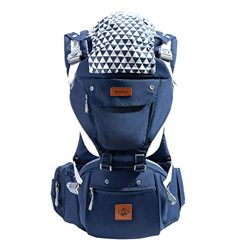 Bebehive 6-in-1 Baby Carrier with Hip Seat | All Season Sling for Newborn to Toddler (6-36 Months) | Ergonomic Support with Front and Back Facing | Free Drool Pads & Nursing Cloth