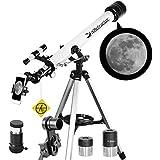 Telescope 60mm Apeture 700mm AZ Telescope - Refractor & Travel Scope for Beginners and Kids to...