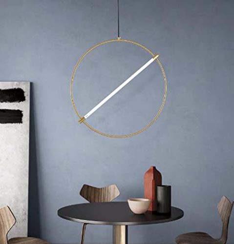 ZXJUAN plafondlamp Minimalist Ristorante Chandelier Light Nordic Luxury Bed Bar Girls Creative Circle Art Déco 40 cm, 60 cm
