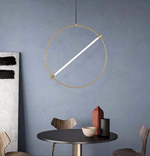 ZXJUAN plafondlamp Minimalist Ristorante Chandelier Light Nordic Luxury Bed Bar Girls Creative Circle Art Déco 40 cm, 60 cm