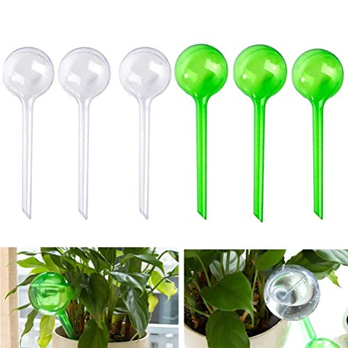 CWeep Hydro Globes Mini Automatic Watering Bulbs 6PCS//Color Random Self Watering Globes for Plants