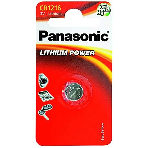 Panasonic Knopfzelle Lithium CR1216 (25 mAh, 3 Volt)