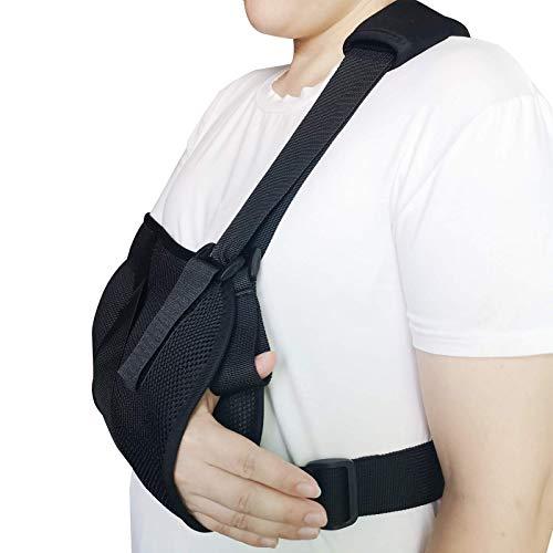 Solmyr Arm Sling - Support for Broken Fractured Bones Arm Elbow Wrist -Lightweight, Breathable, Ergonomic Design, Adjustable Shoulder Rotator Cuff Support Brace (Adult)