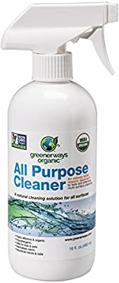 Greenerways Organic All-Purpose Cleaner, Natural, USDA Organic, Non-GMO, Best Household Multi Surface Spray Cleaner for Home, Glass, Kitchen, Bathroom, Shower, Window (1 Pack)