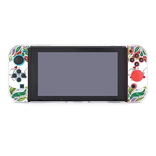 Schutzhülle für Nintendo Switch, Dankeskarte mit niedlichen Blumen, langlebige Schutzhülle für Nintendo Switch und Joy Con
