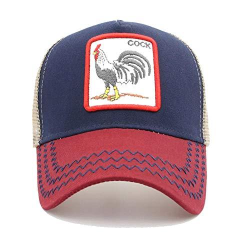 Chifans Gorra Neta de béisbol Vintage de Verano, Gorro de Alpinismo, patrón de Bordado de Gallo, Ajustable, Cuatro Colores