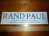 ランドポール 大統領選 2016 USDM 北米 直輸入 アメリカ ヒラリー トランプ バーニー キャンペーン 落選 バンパーステッカー ステッカー