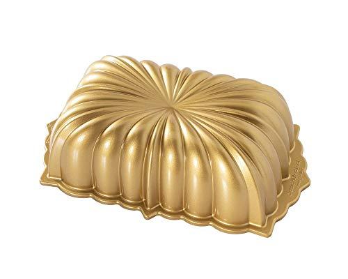 Nordic Ware, Backform, Kuchenform, Kastenform, gewellt, goldfarben, Aluminium, Antihaft, NW 81677